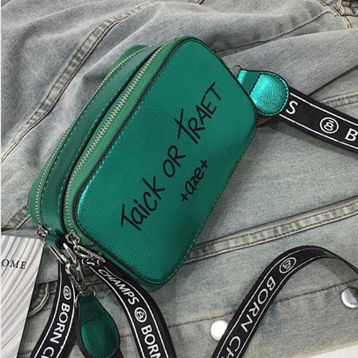 1cf8e4a840d7 Сумка женская стильная с модным текстильным ремешком (зеленая) - Интернет-магазин  «VINGO