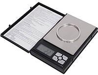 Электронные мини-весы notebook 1108-2 / 6296-1, 0,1г-2кг,ювелирные, меры веса g/gn/oz/ct/pcs, функция тары