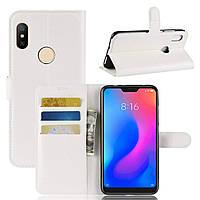 Чехол-книжка Litchie Wallet для Xiaomi Redmi Note 6 Pro Белый