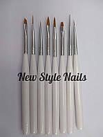 Набор кистей для росписи ногтей 8 шт в упаковке(короткая ручка)