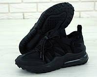 """Кроссовки мужские Nike Air Max 270 Browfin """"Полностью черные"""" найк аир макс р.41-45, фото 1"""