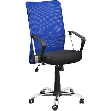 Кресло АЭРО HB сиденье Сетка черная, Неаполь N-20/спинка Сетка синяя, фото 2