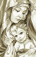 """Набір алмазної мозаїки 30х50 """"Богородиця з Ісусом"""" (сепія) 7038F4"""