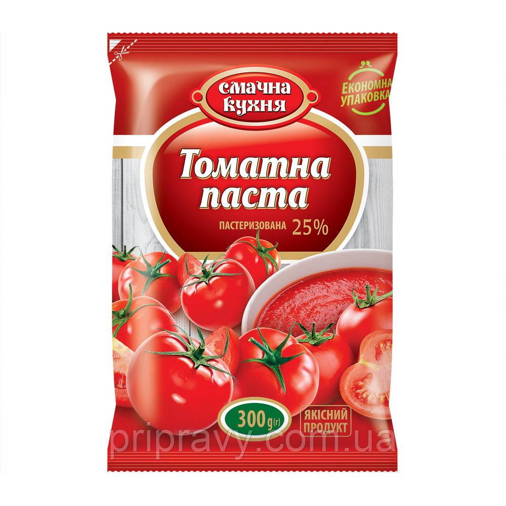 Томатная паста пастеризованная 25% ТМ Смачна кухня,300 г