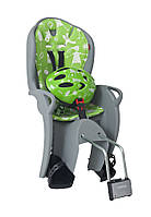 Комплект велокресло детское Hamax Kiss серое/зеленое + шлем