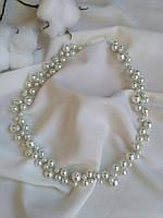 Трендовая веточка в прическу из жемчужных бусин белого цвета, ободок из бусин на свадьбу