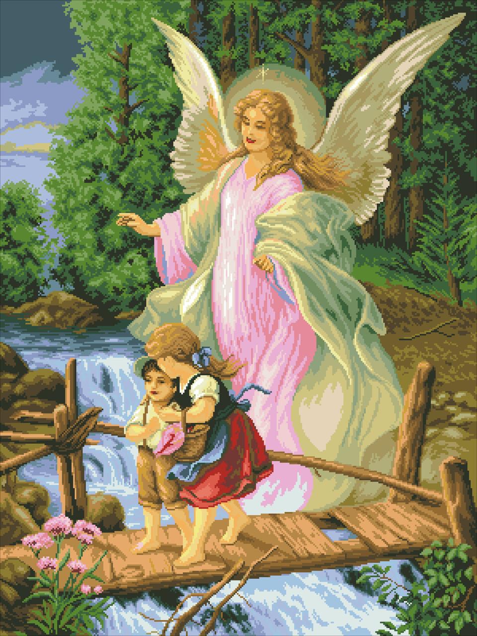"""Набор алмазной мозаики (40x50) """"Ангел и дети"""" GF3051"""