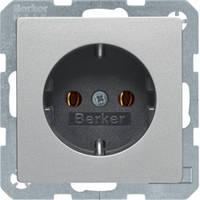 Розетка с заземлением 16А/250В Q.1/Q.3 Berker алюминий