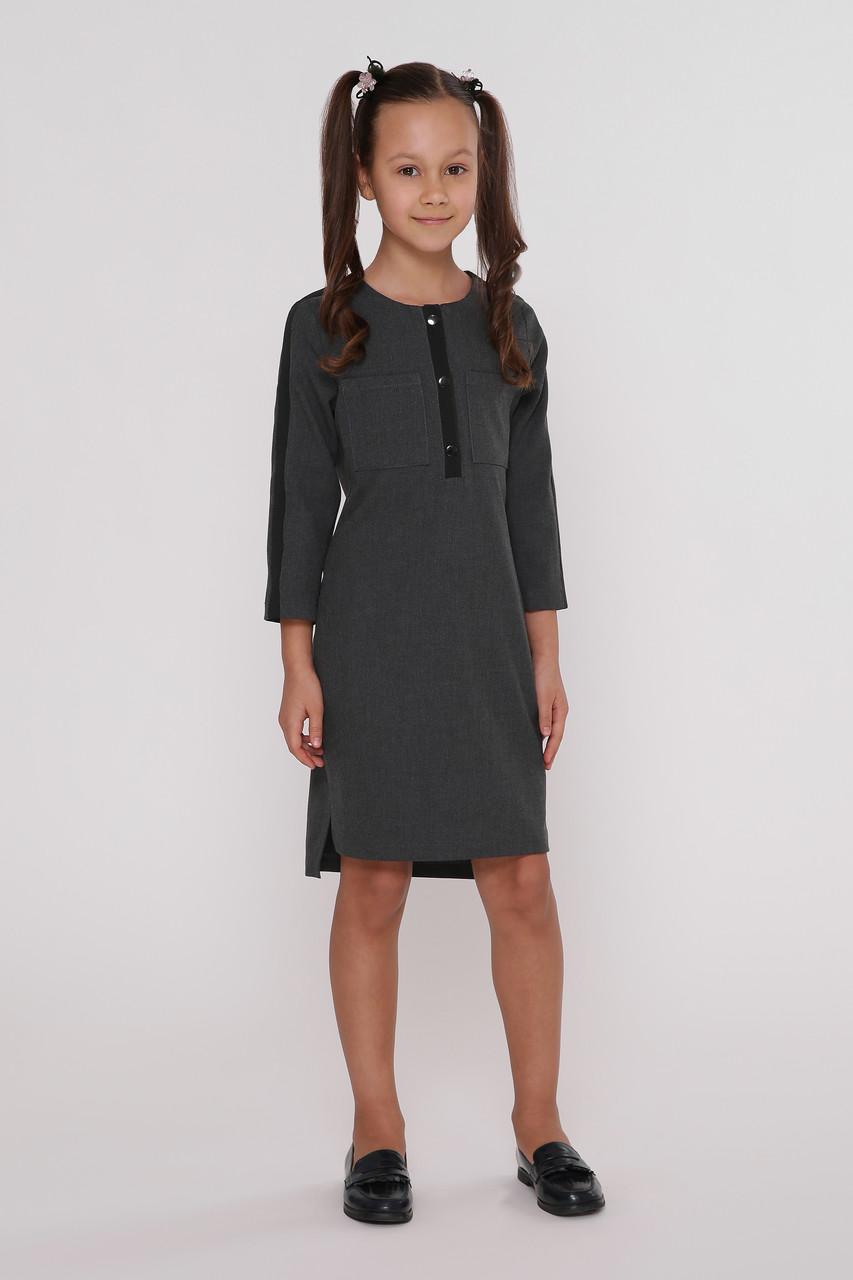 Платье детское  Татьяна Филатова модель 236  серое