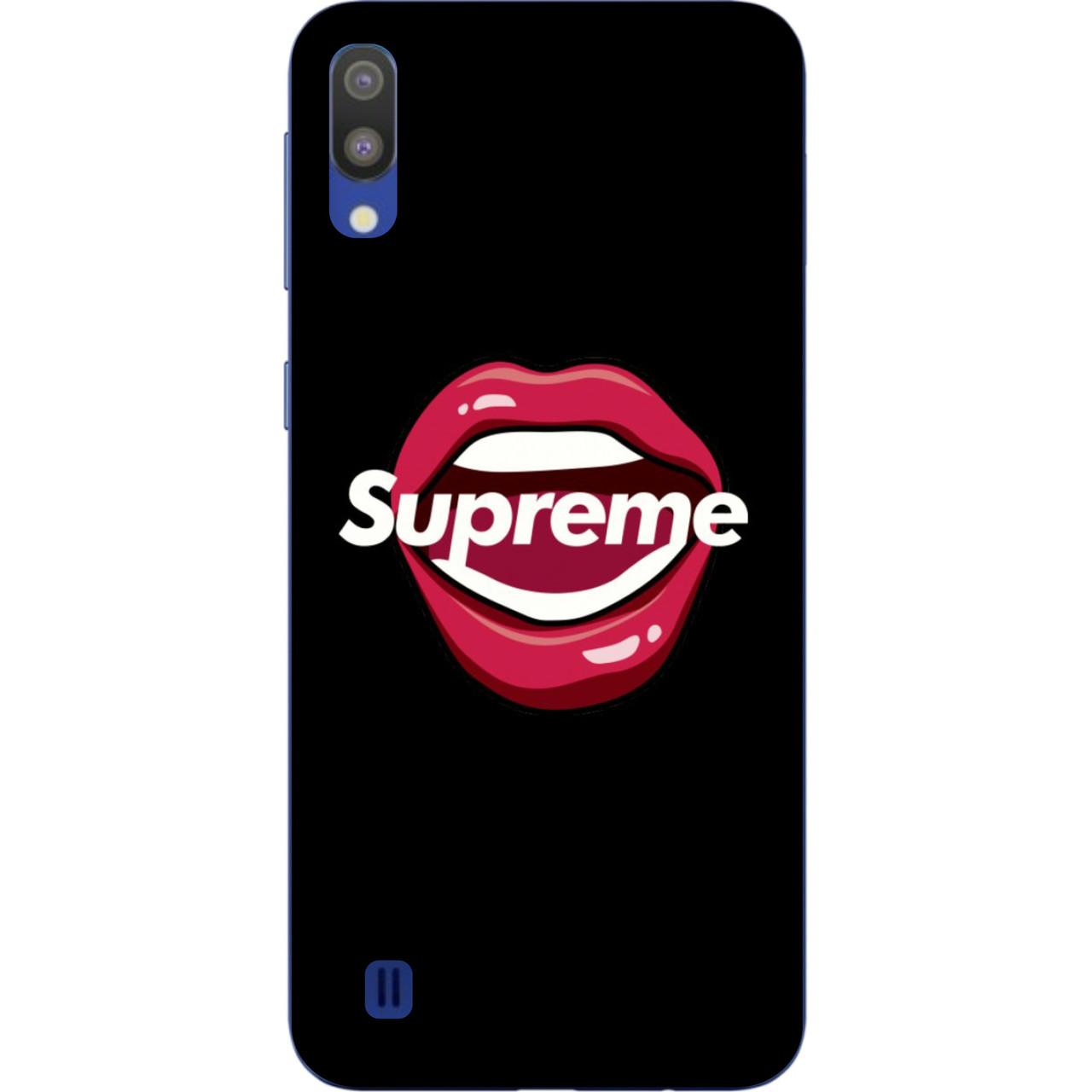 Силиконовый чехол бампер для Samsung Galaxy M10 / A10 с картинкой Губы Supreme