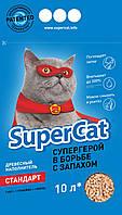 SUPER CAT Стандарт древесный наполнитель, 3 кг