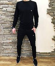 Костюм мужской спортивный черный кофта штаны (реплика)