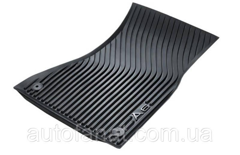 Коврики Audi A6 (C7), передние резиновые в салон оригинальные (4G1061501041)