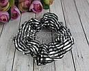 Объемные резинки для волос текстиль с накатом d 9 см 12 шт/уп., фото 2
