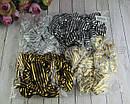 Объемные резинки для волос текстиль с накатом d 9 см 12 шт/уп., фото 3