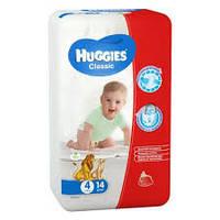 Подгузники Huggies Classic №4 7-18 кг (14 шт) (хаггис классик)