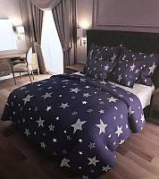 """Полуторный комплект постельного белья из бязи голд""""звезды"""""""