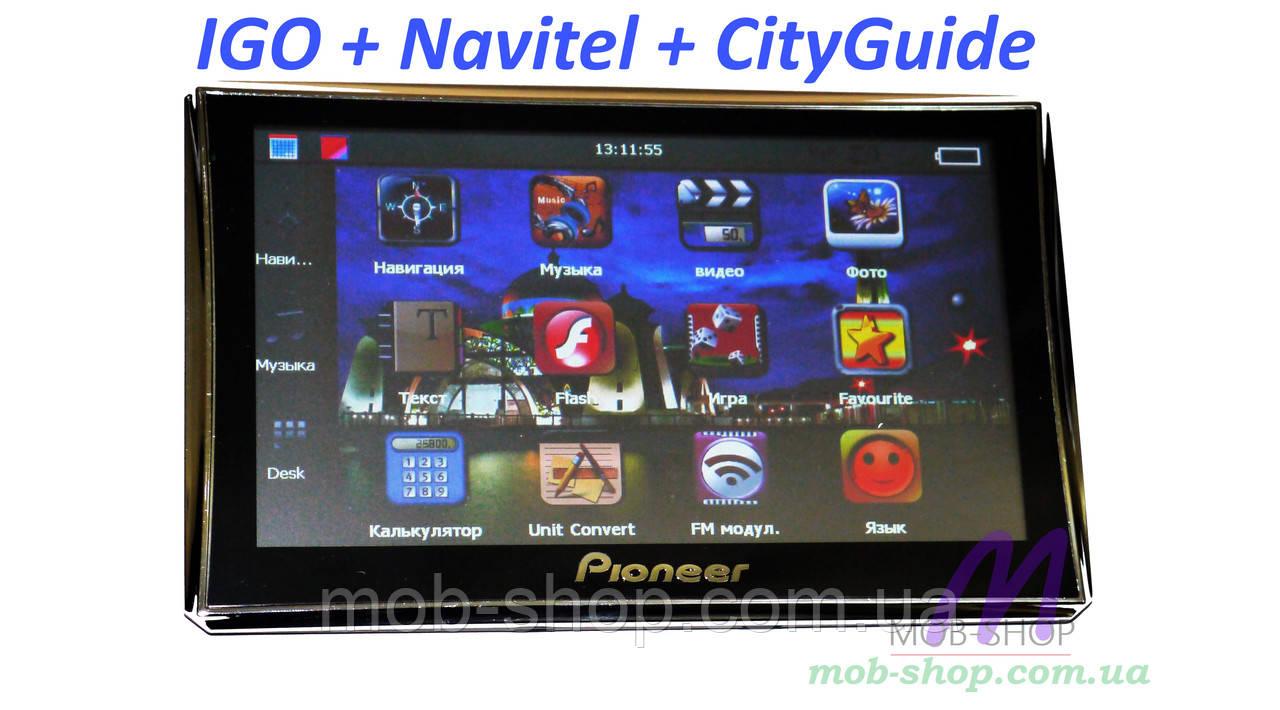 "Автомобильный GPS навигатор 7"" Pioneer 716 8Gb FM трансмиттер"