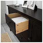IKEA HEMNES Сервант, черно-коричневый  (803.092.55), фото 5