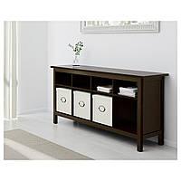 IKEA HEMNES Скамейка, черно-коричневый  (002.518.09)