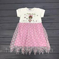 Платье  детское  LOL горох