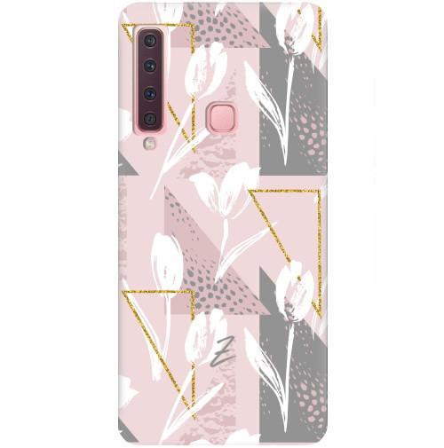 Чехол для Samsung Galaxy A9 2018 White Tulips