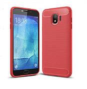 Чехол силиконовый TPU на Samsung J6 2018 J600 красный