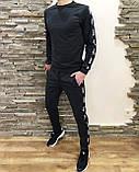 Костюм мужской спортивный серый кофта штаны (реплика), фото 4