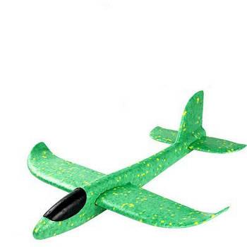 Детский Самолетик для метания Планер 49см, без света зеленый
