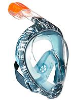 Маска для Снорклинга Easybreath (маска подводного плавания с трубкой с панорамным обзором) с принтом