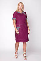 Платье женское льняное в 3х цветах АР Сусанна 52-60 размеры