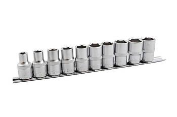 "Набір головок шестигранних 1/2"" Mastertool - 10 шт. (10-24 мм)"