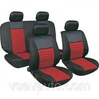 Чехлы сидения MILEX Tango 24016/7 красные с сеткой (полный к-т)
