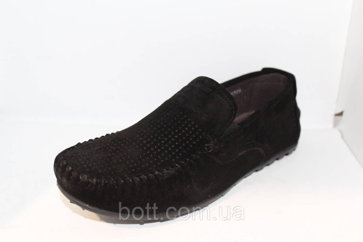 Замшевые мокасины черные, фото 2