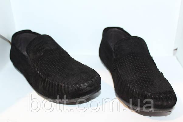 Мокасины черные замшевые , фото 3