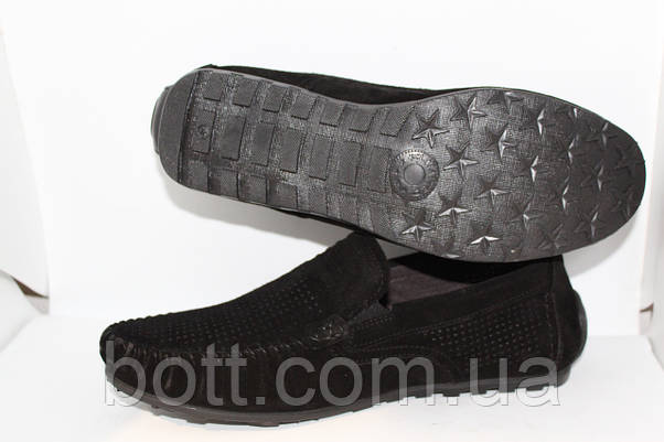 Замшевые мокасины черные, фото 3