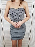 Бандажное платье H&M без бретелей