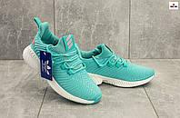 Женские модные кроссовки тканевые бирюзовые B 18125-2 (Adidas Alphabounce Instinct) весна осень