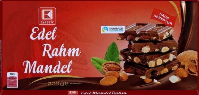 K-CLASSIC  Edel Rahm Mandel (молочный с цельным миндалем) 200G. Германия