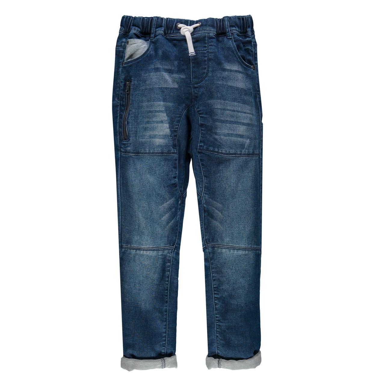 Джинсы для мальчика MEK 191MHBM011-148 синие 140-170