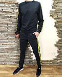 Костюм мужской спортивный серый кофта штаны (реплика), фото 2