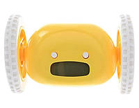Будильник на колесиках «Догони меня» желтый