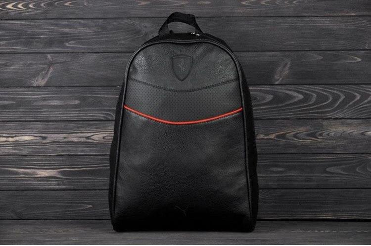 Рюкзак в стиле Ferrari black чёрный мужской