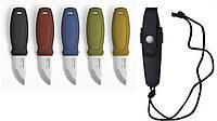 Нож morakniv (мора) Eldris Colour Mix 2.0 Жёлтый полная комплектация (нож ,ножны, огниво,паракорд, застёжка на ножнах) (12632)