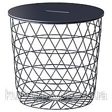 IKEA KVISTBRO Столик, темно-синий  (204.333.71)