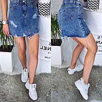 Женская джинсовая юбка лето