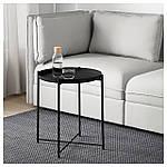 IKEA GLADOM Столик, черный  (504.119.90), фото 2