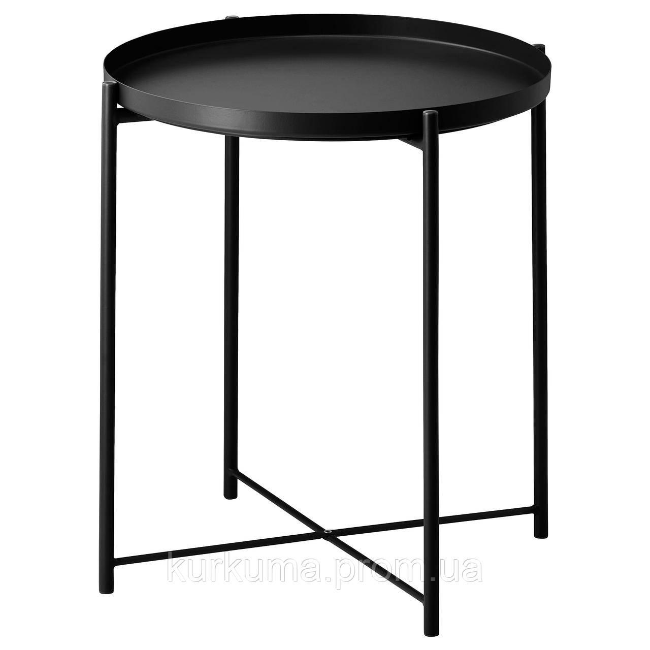 IKEA GLADOM Столик, черный  (504.119.90)