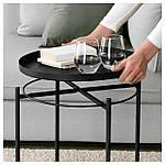 IKEA GLADOM Столик, черный  (504.119.90), фото 4