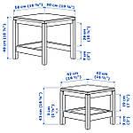 IKEA HAVSTA Стол 2 шт., темно-коричневый  (604.041.97), фото 5